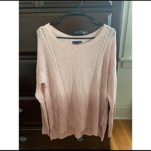 Pink & Cream/White Ombré American Eagle Sweater